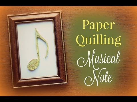 Musical Note - Paper Quilling Pattern