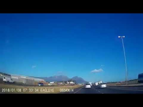 Taxi Crash caught on Dash Cam Vanguard Drive Cape Town 8 January 2018