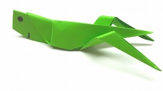 Origami Tutorial - How to fold an Easy Origami Grasshopper