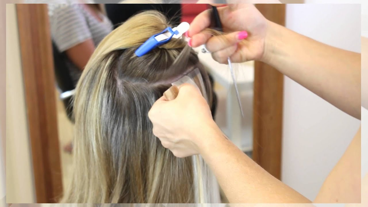Ivy Tape Hair Extensions Before Application After Youtube
