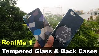 RealMe 1 Tempered Glass & Back Case Review || in telugu ||