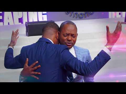 Prophet JOEL FRANCIS TATU receives an impartation from his spiritual father Pastor ALPH LUKAU