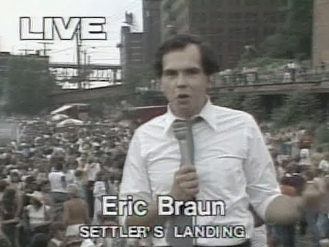 WEWS reporter Eric Braun live at a Cleveland Party In The Park 1980 or 1981