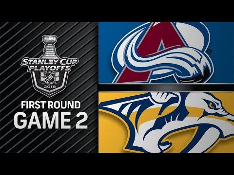 Colorado Avalanche vs Nashville Predators – Apr. 14, 2018 | Game 2 | Stanley Cup 2018. Обзор