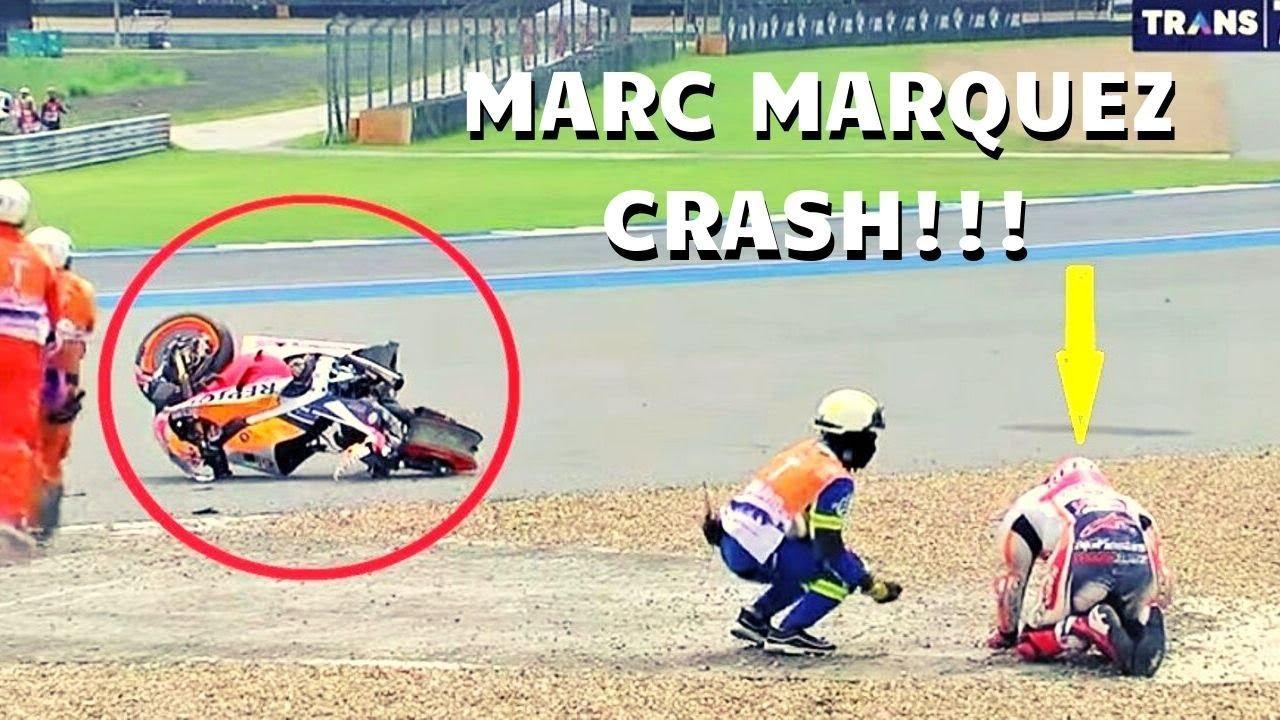 FULL - Detik-Detik Marc Marquez CRASH di FP1 MotoGP