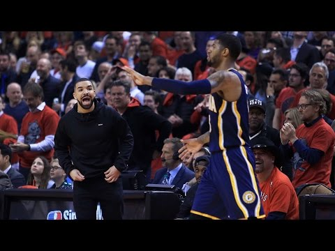 Drake Yells At Paul George During Raptors vs. Pacers Game, Blasts Him on Instagram