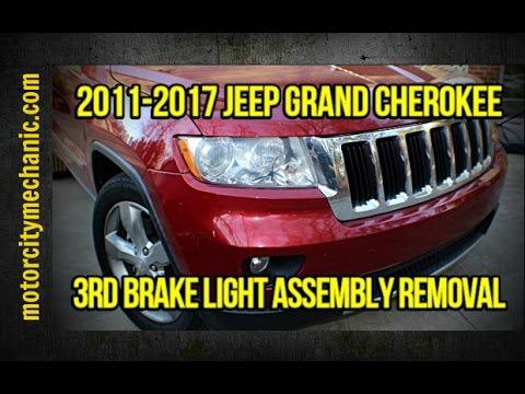 2017 Jeep Grand Cherokee 3rd Brake Light Embly Removal