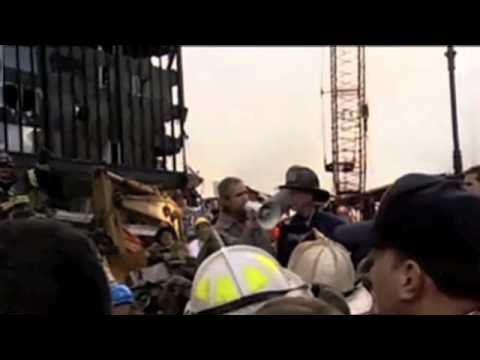 George W Bush Bullhorn Speech To Emergency Rescue Workers At 9 11