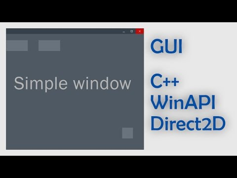 Working on GUI written on C++ with WinAPI and DirectX #1  Simple window