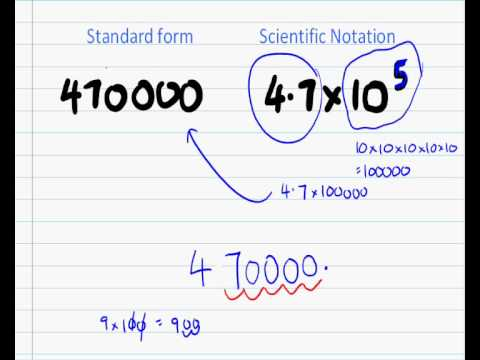 Converting To Scientific Notation Youtube