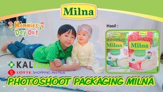 Photoshoot Bintang Milna Kalcare   Packaging Milna pakai Muka Trevor & Tiff