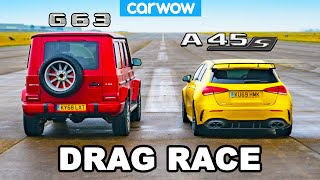 AMG G63 vs A45 S: DRAG RACE... of my two daily drivers!
