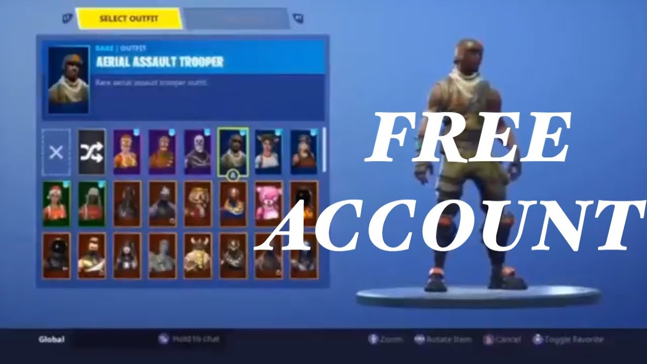 INSANE OG FORTNITE ACCOUNT GIVEAWAY (Aerial Assault x ...