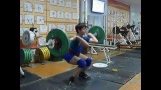 Тяжёлая атлетика Мезенцев Алексей, 12 лет, вк 62 Толчок 51 кг