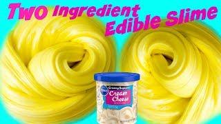 Edible Butter Slime Two Ingredients DIY (Making Edible Slime) Two Ingredient Edible Butter SLIME DIY