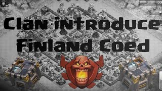 Clash of Clans-Clan Introduce-Finland Coed-(In English)