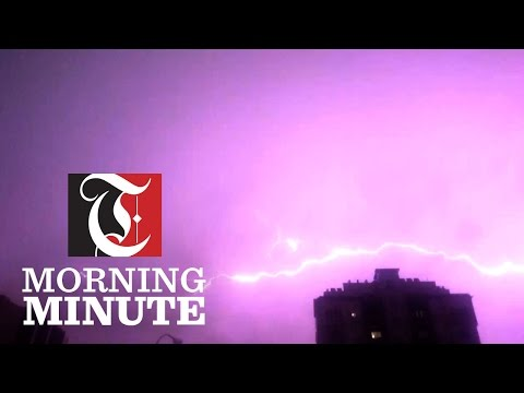 Electric storm hits Muscat