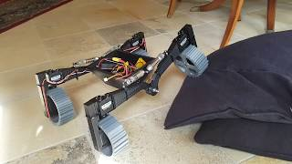 3D printed Mars rover robot crawler with directional wheels