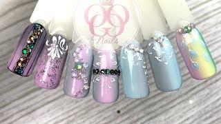 Дизайн ногтей гель лаком ♥ С блестками, стразами и паетками ♥ ROXY ♥ Дубровка