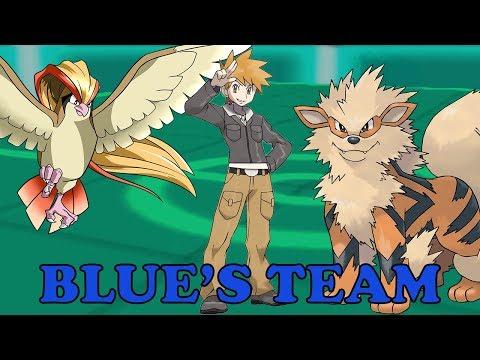 Pokemon Theme Battle : Trainer Blue Team