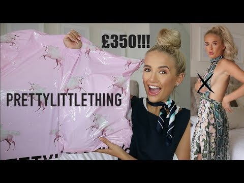 £350 PRETTY LITTLE THING HAUL & TRY ON ! SUMMER 18 | MOLLY-MAE