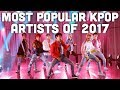 Most Popular Kpop Artists of 2017
