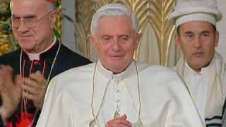 Benedict XVI at Romes synagogue : Jewish  and Catholic communities need to work together