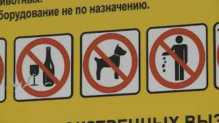 Не выгуливайте собак на детских площадках!