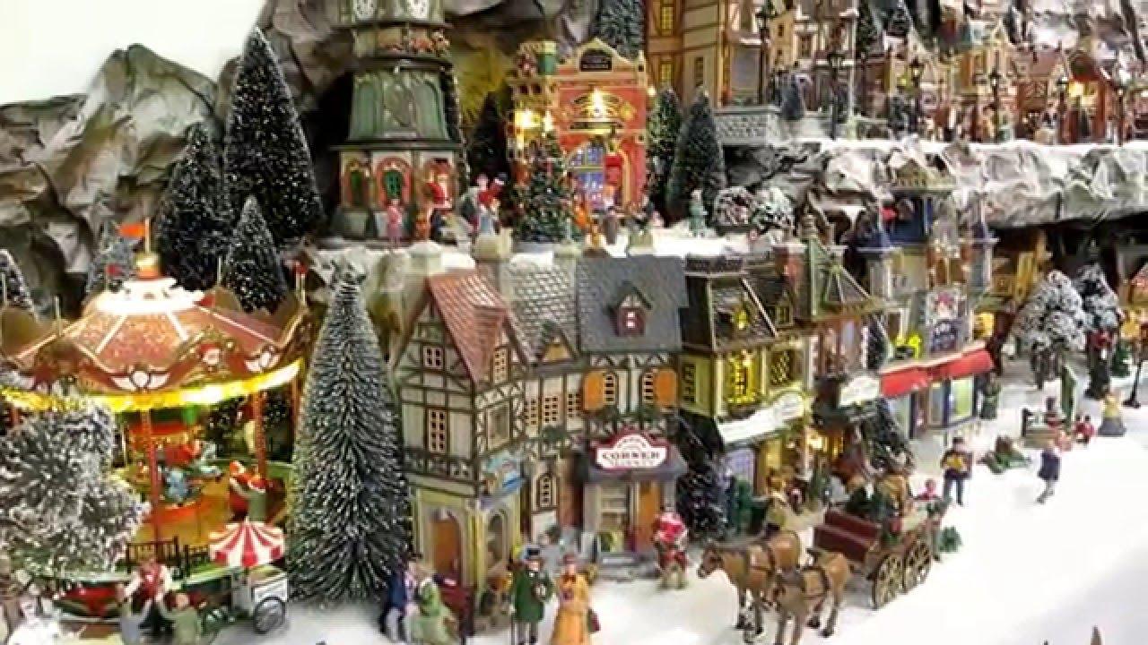 Lemax Christmas.Notre Village De Noel 2015 2016 Lemax Luville Myvillage Christmas Village Pat Post 2