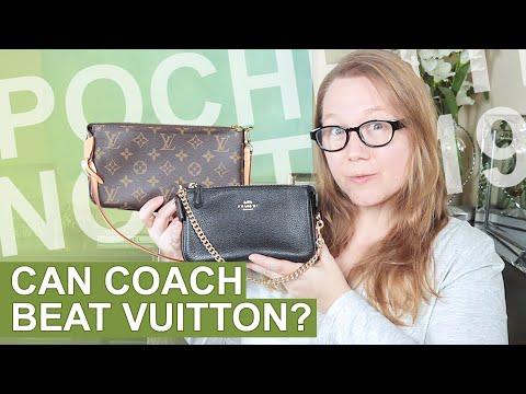 Comparison: Louis Vuitton Pochette Accessoires vs Coach Nolita 19 || Autumn  Beckman