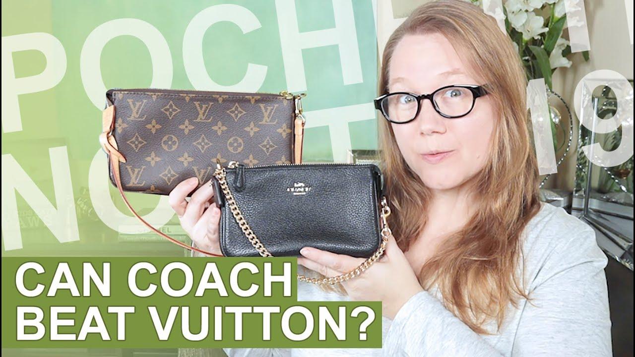 Comparison: Louis Vuitton Pochette Accessoires vs Coach Nolita 19 ...