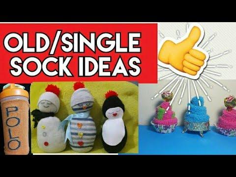 How to recycle old socks/single socks ideas