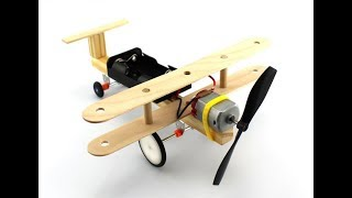 Wind power small aircraft students handmade DIY inventions air science