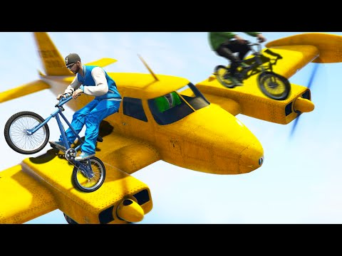 EXTREME PLANES vs. BMX! (GTA 5 Funny Moments)