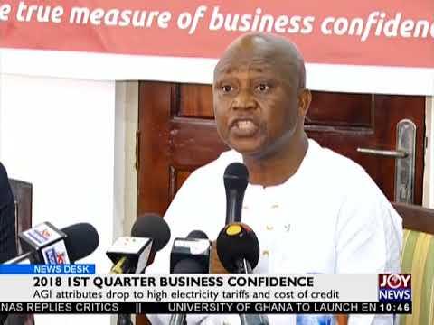 2018 1st Quarter Business Confidence - Business Desk on JoyNews (4-5-18)
