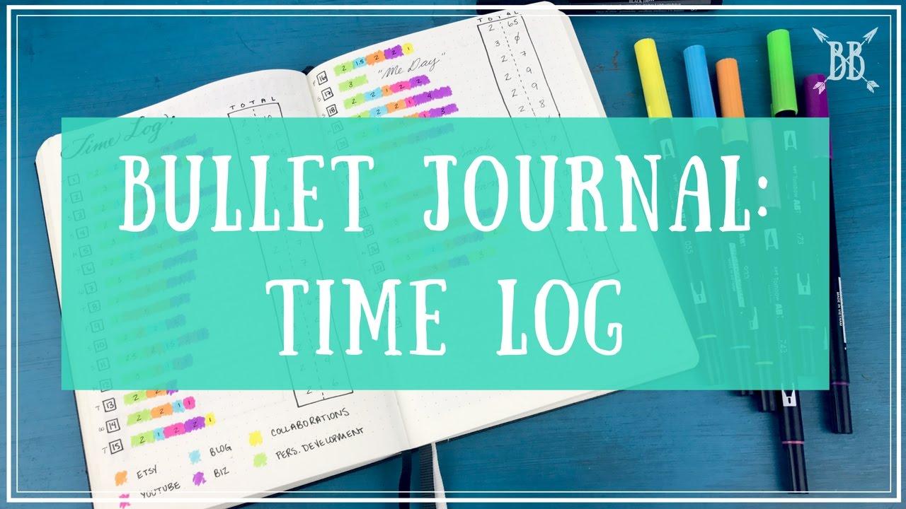 Bullet Journal: Time Log - YouTube