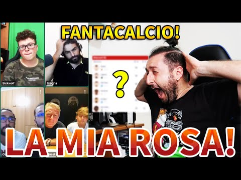 Ho fatto il FANTACALCIO con FABIO e altri AMICI: ecco la MIA ROSA!!!