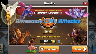 Zee Warrior | Awesome clan | CWL | AWESOME | TH12 | 3 STARS | CLASH OF CLANS