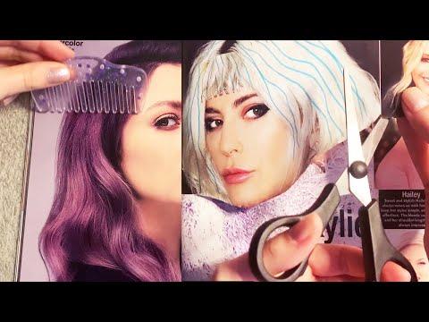 ASMR Real Haircut On Magazine (Whispered)