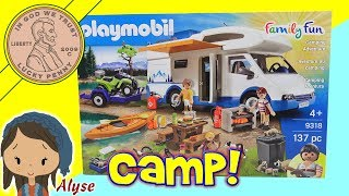 Dad & Daughter Build The Playmobil Camping Adventure - Family Fun!