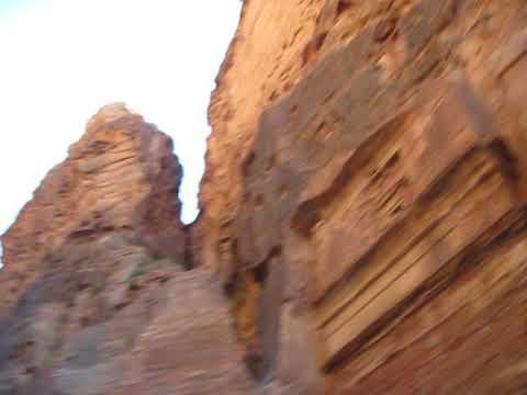 Petra - Jordan - Walk from Theatre back to Treasury
