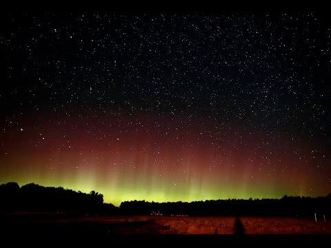 Aurora Time Lapse 09 01 2016 Midland MI USA