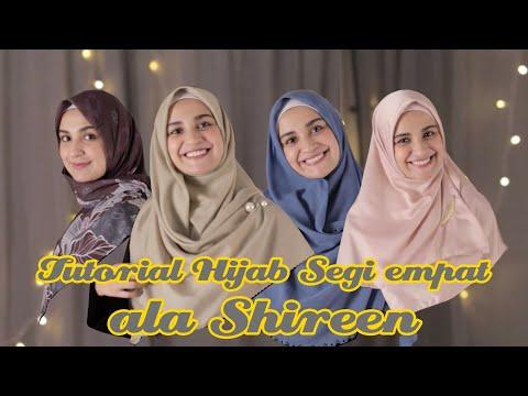 Image of Tutorial hijab segi empat menutup dada ala Shireen