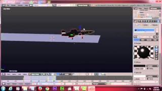 cara mengintall blender + menggerakkan pesawat
