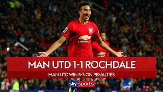 Man Utd scrape past Rochdale on pens   Man Utd 1-1 Rochdale   Carabao Cup Highlights