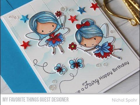 Mft fairy happy patriotic fairies birthday card youtube mft fairy happy patriotic fairies birthday card bookmarktalkfo Image collections
