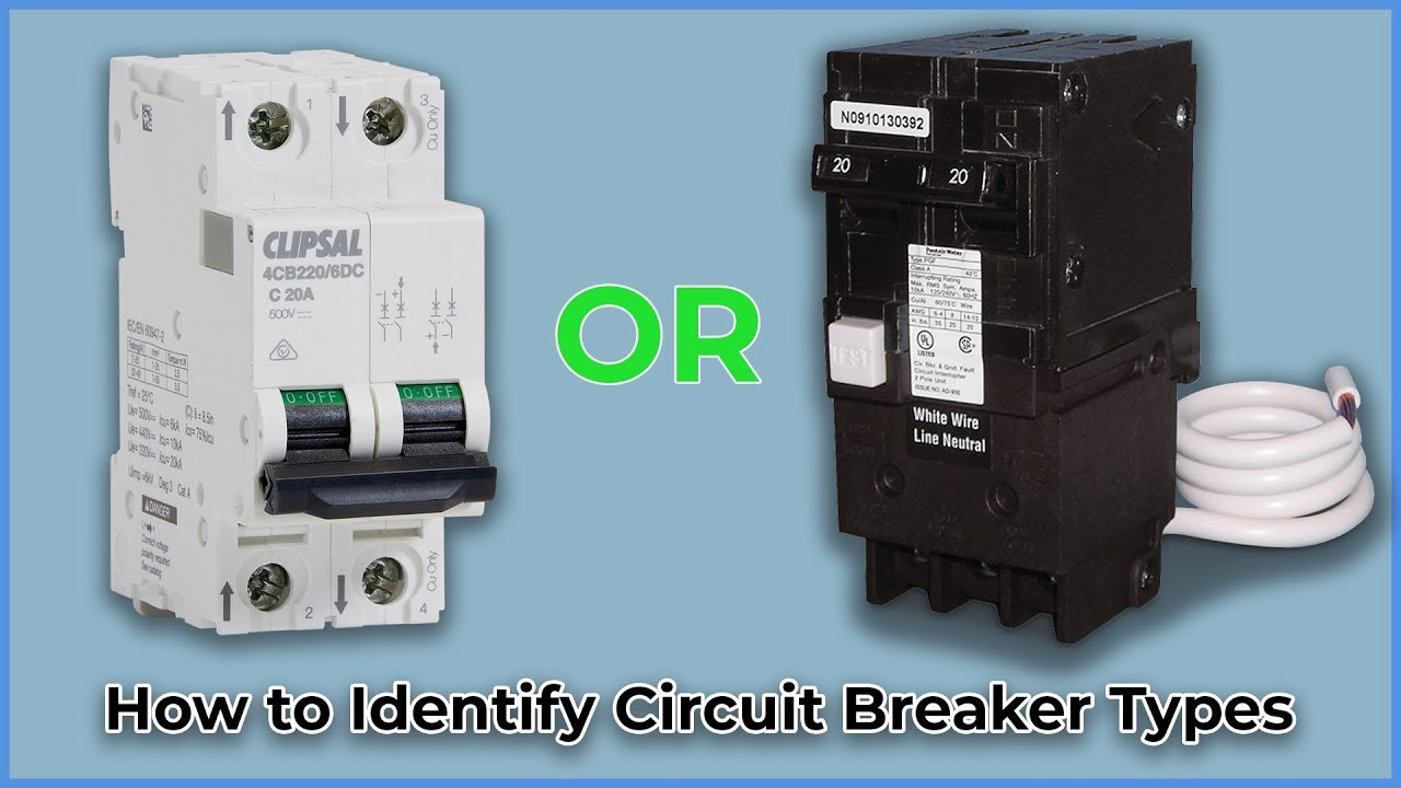 How To Identify Circuit Breaker Types Youtube Wiring