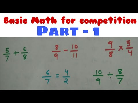 Math basic addition and subtraction (fraction) Part - 1