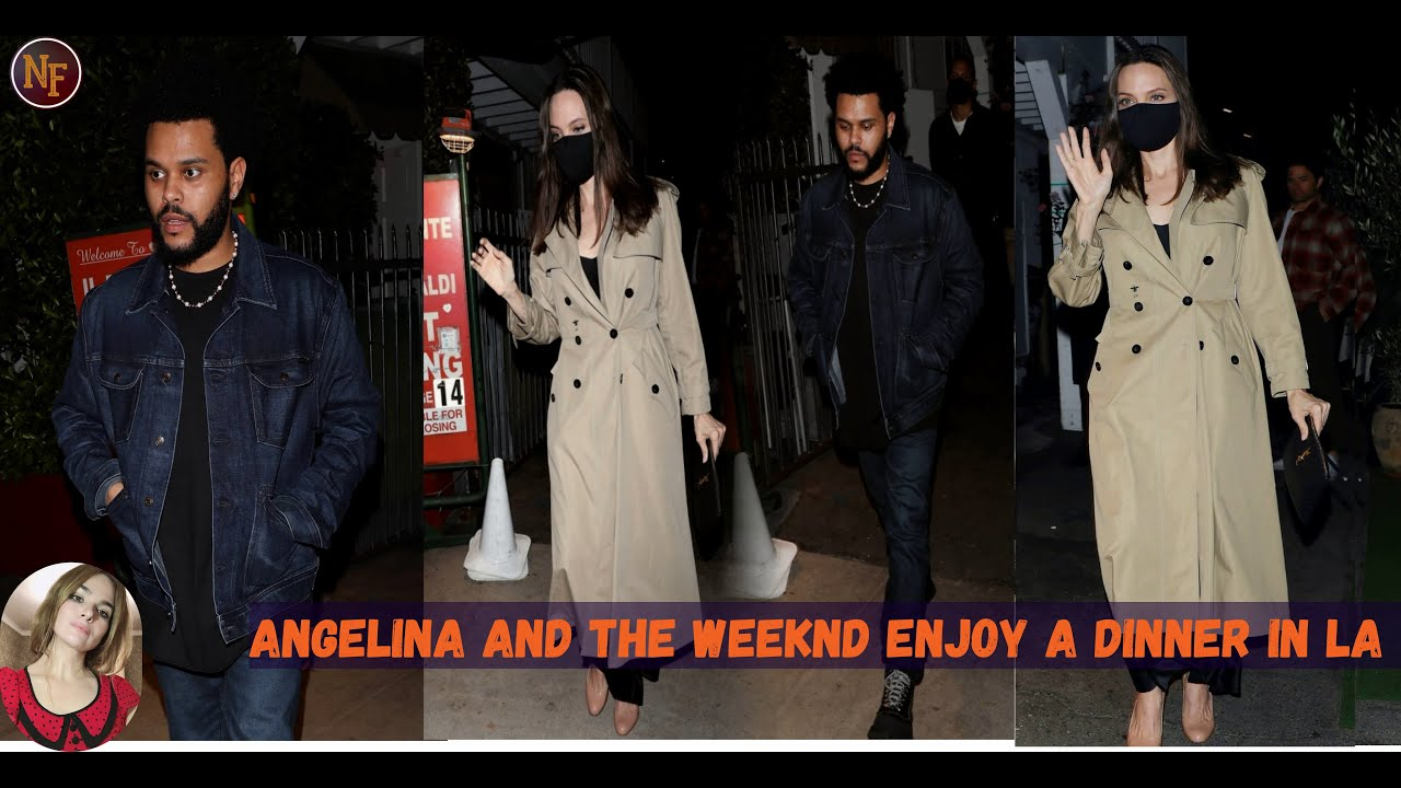 The Weeknd and Angelina Jolie were spotted out to dinner together