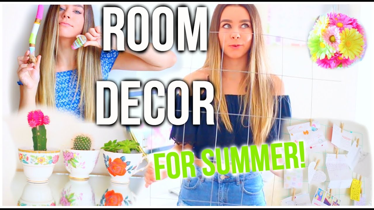 diy room decor for summer! make your room cute & tumblr! - youtube